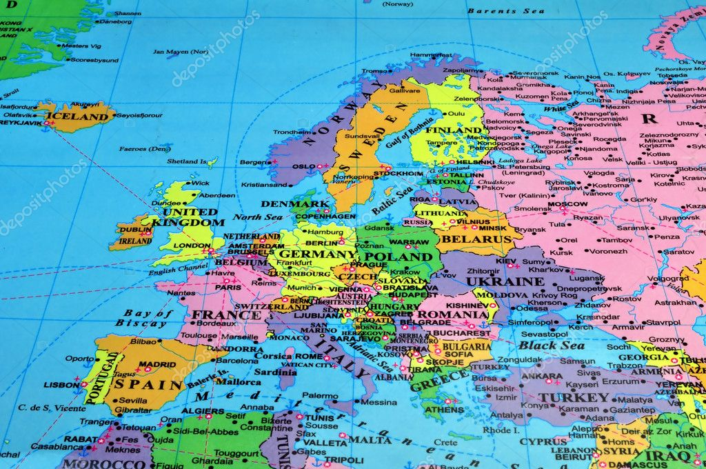 Colorful map of Europe — Stock Photo #3038210