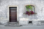 Simple old house facade. — Stock Photo
