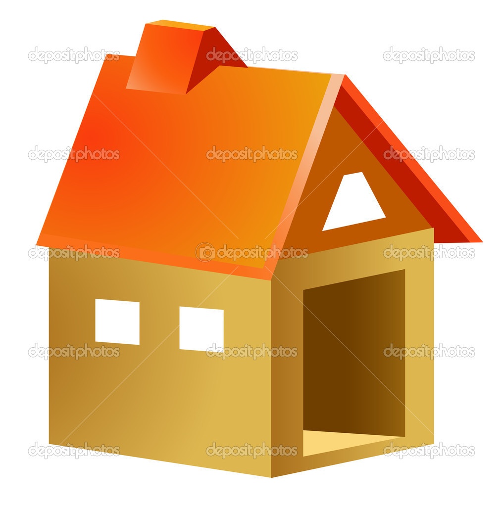 Cartoon wood house — Stock Photo © realrocking #2938900