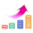 Stock Photo: Business chart with arrow