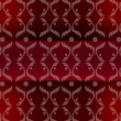 Crimson seamless royal damask pattern — Stock Photo