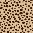Stock Photo: Deep dots on brown background