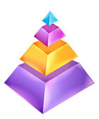 3D Pyramid Chart — Stock Photo