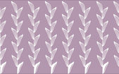 White leaf pattern in purple background — Stock Photo