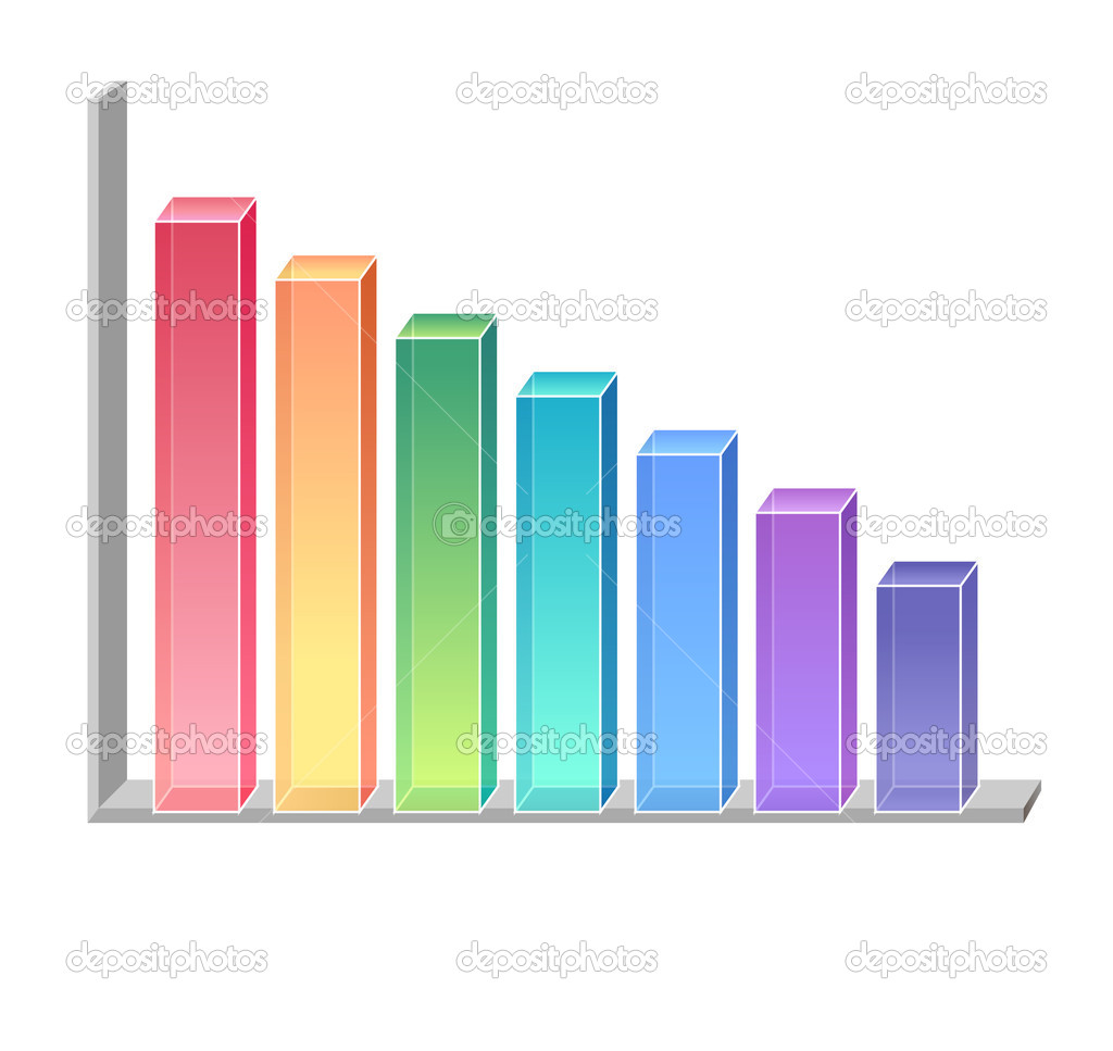 A color graphics chart over a white background — Stock Photo #2941330