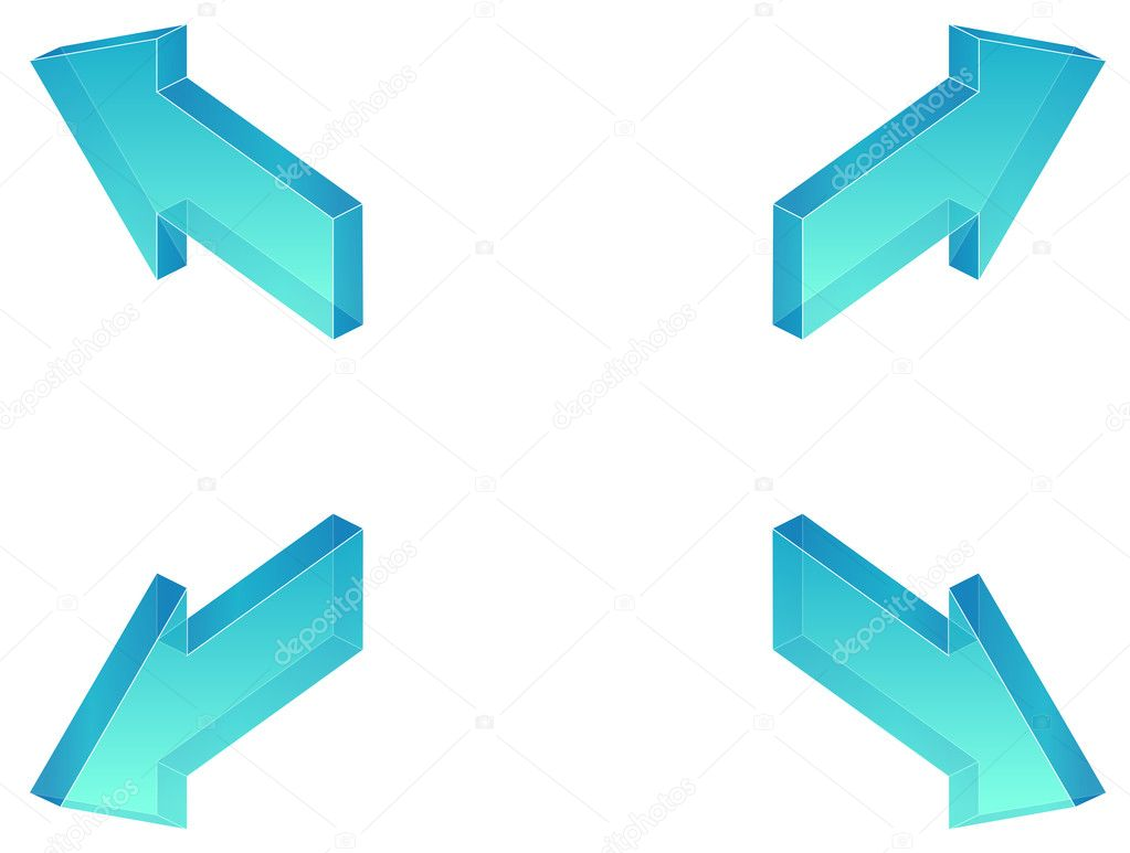 Four arrows in four directions, toon effect — Stock Photo #2946954
