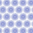 Blue seamless flower pattern — Stock Photo