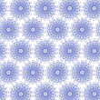 Blue seamless flower pattern — Stock Photo #2966676