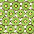 Seamless green flower pattern — Stock Photo