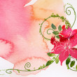 Watercolor of flower - Stock Photo