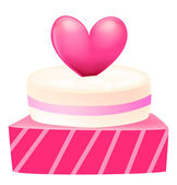 A cake with heart — Stock Photo