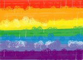 Abstract rainbow oil brush background — Stock Photo