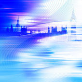 Abstract blue building background — Stock Photo