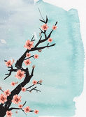 Chinese painting of plum — Stock Photo