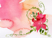 Watercolor of flower — Stock Photo