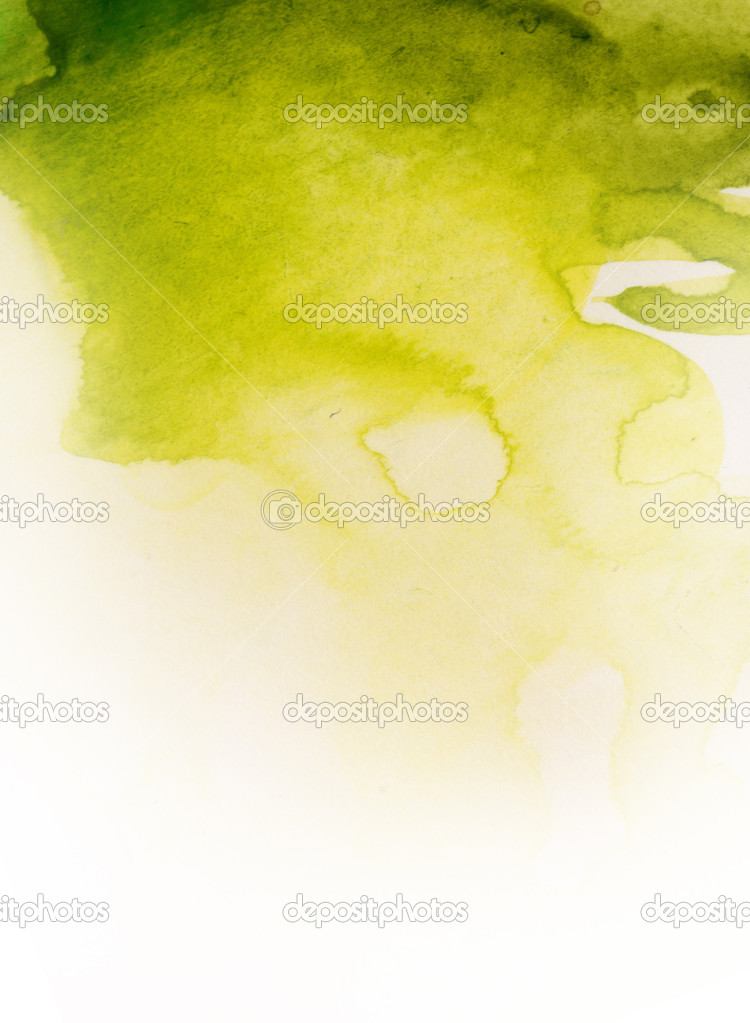 Watercolor green texture,used as background or backldrop — Photo #2967114