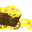 Stock Photo: Pushcart and leaves