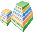 Two Pile of  books — Stock Photo