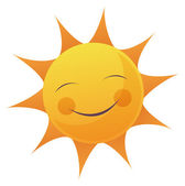 Cartoon Sun Face — Stock Photo