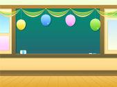 Classroom with ballon for celebration — Stock Photo