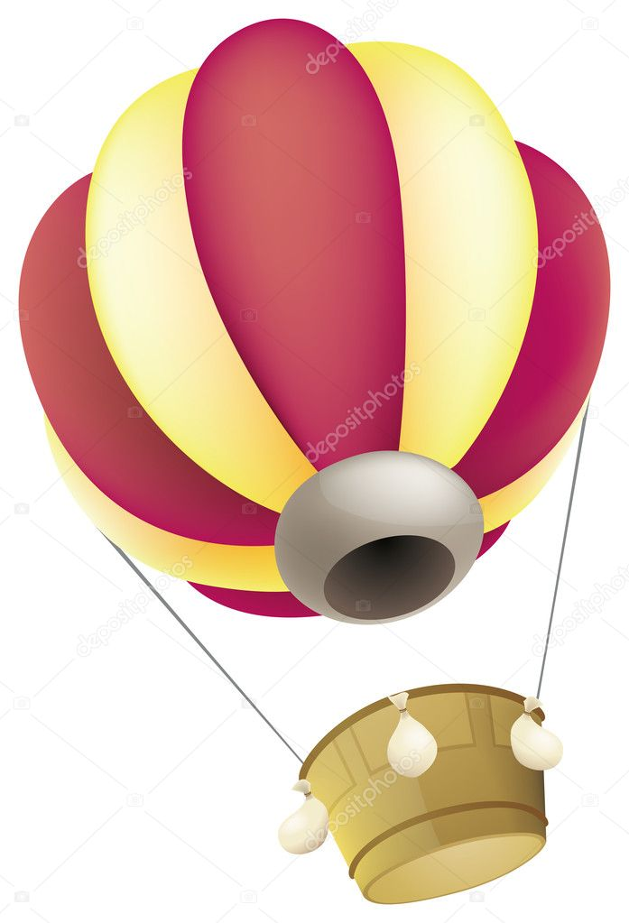 A hot air balloon against a white background — Stock Photo #3322497