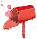 Postbox and heart — Stock Photo