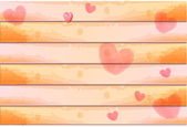 Watercolor heart background — Stock Photo