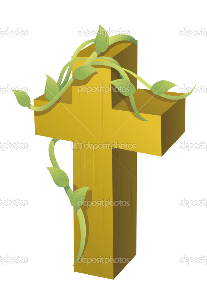 Cross and vines — Stock Photo © realrocking #3386530
