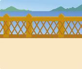 Błękitne jezioro i most — Zdjęcie stockowe