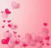 Pink heart background — Stock Photo