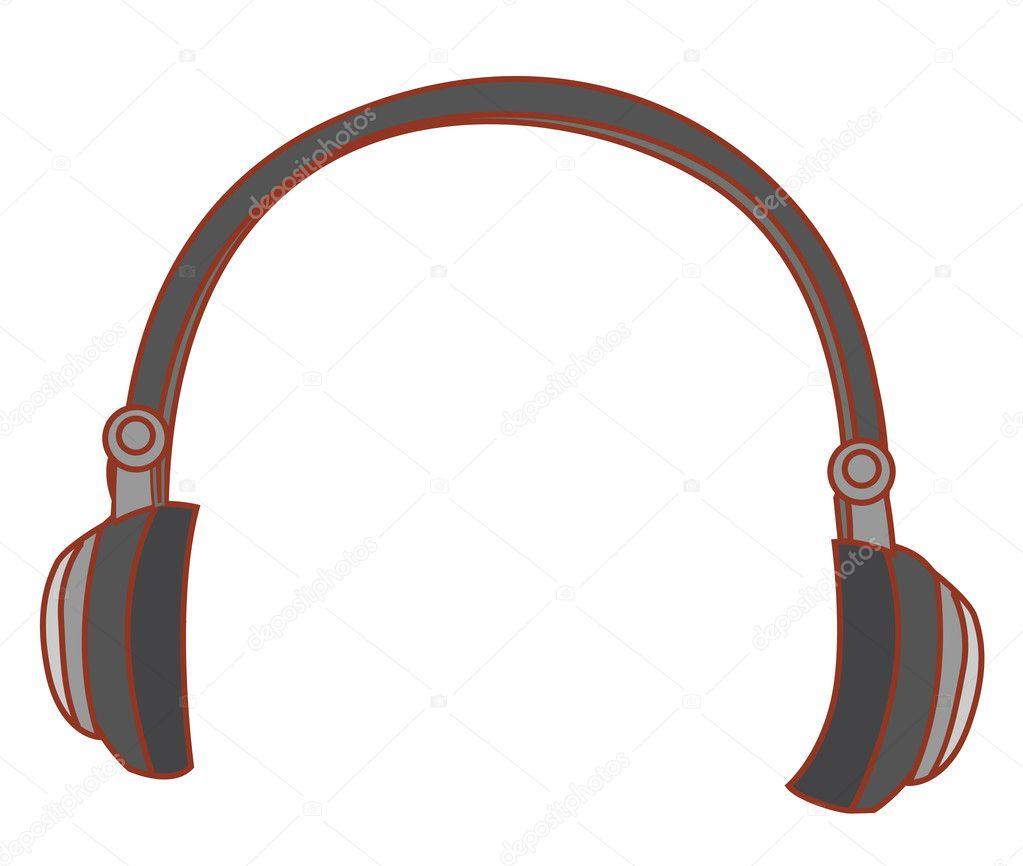 A nice drawing of a black headphone  Stock Photo #3403983