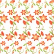 Stock Photo: Flower pattern
