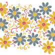 Daisy flower pattern — Stock Photo