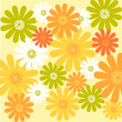 Yellow daisy flower pattern - Stock Photo