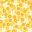 Flower pattern background - Stock Photo