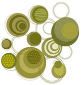 Green circle pattern — Stock Photo