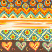 Irregular and heart pattern images — Stock Photo