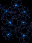 Mavi çiçek — Stok fotoğraf