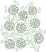 Patrón de flor margarita — Foto de Stock