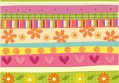 Transverse flower pattern — Stock Photo