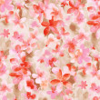 Pink flower pattern,watercolor — Stock Photo
