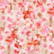 Pink flower pattern,watercolor - Stock Photo