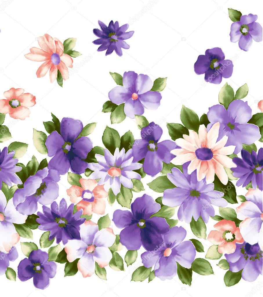 Purple Flower Drawing   Beautiful Scenery Photography