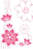 Pink flower pattern — Stock Photo