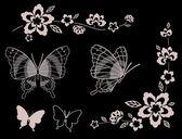 цветок и бабочка — Стоковое фото
