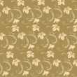 Seamless leaves and vines pattern - Stock Photo
