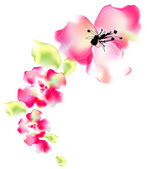 Watercolor painting of flower — Stock Photo