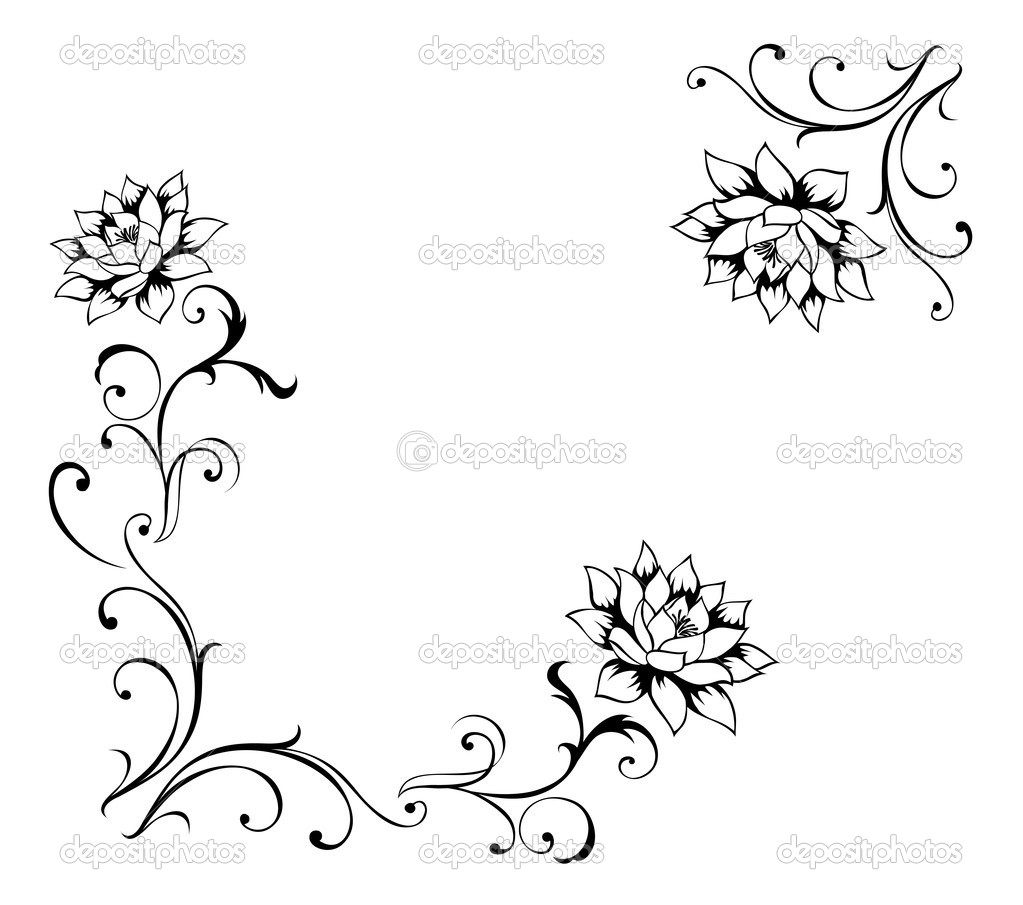 Flower Designs Patterns to Draw Drawing of Flower Pattern in a