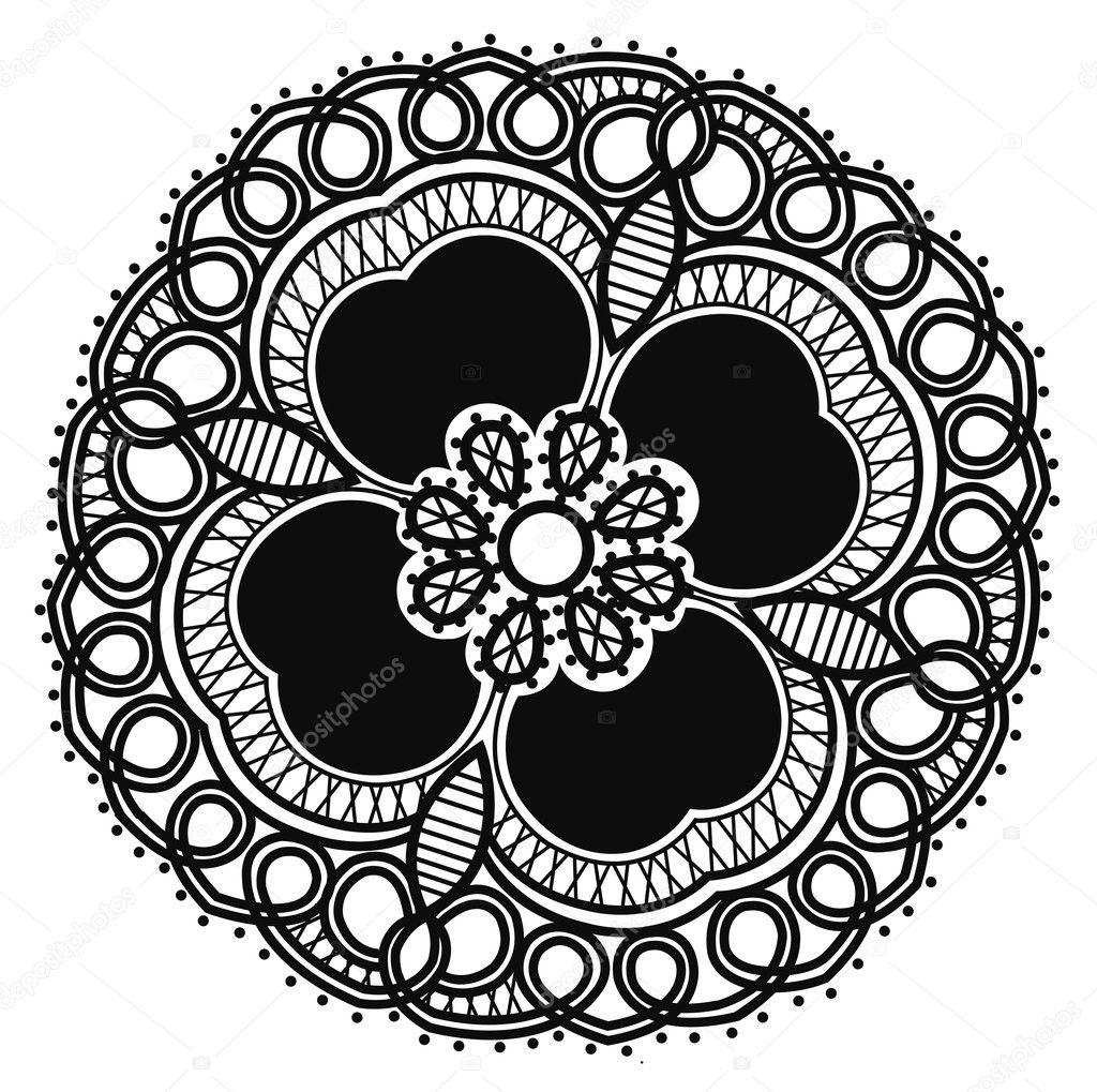 Flower Pattern Drawing Beautiful Black Flower Pattern
