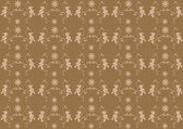 Brown seamless flower damask background — Stock Photo
